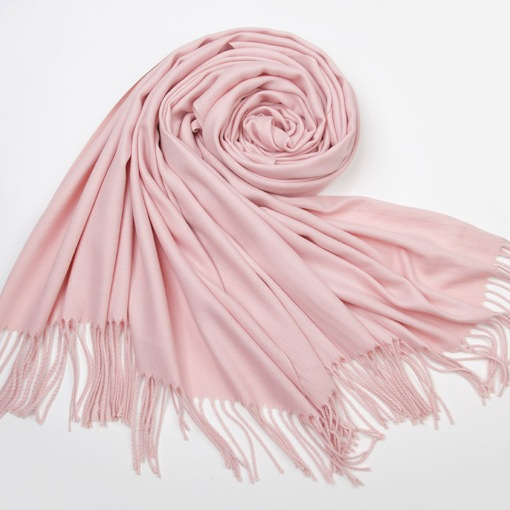 Plain Tassel Design Lightweight Korean Scarves