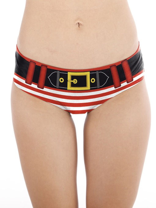 Christmas Print Stripe Women's Panty