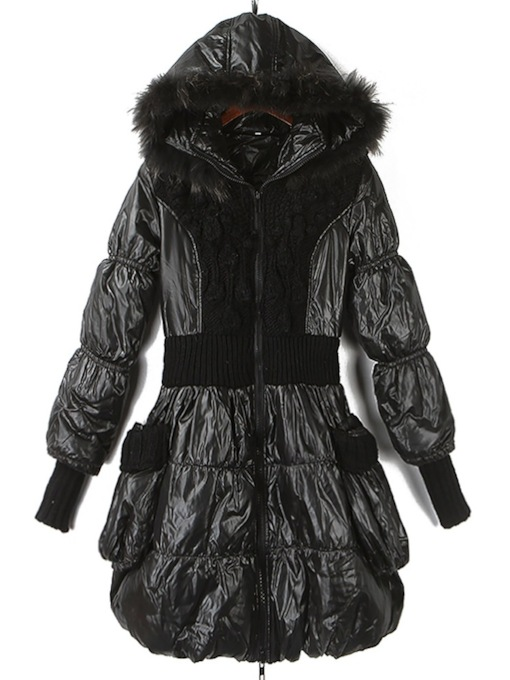 Slim Thick Zipper Faux Fur Women's Cotton Clothes