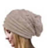 Warm Red Woolen Yarn Women Knitted Hat