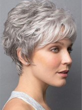 Halloween Women's Short Shaggy Natural Straight Synthetic Hair Wigs Capless Cap Costume Cosplay Wigs 10inch
