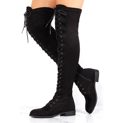 Plain Side Zipper Block Heel Round Toe Trendy Thigh High Boots