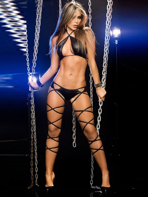 Dance Clothes Plain Lace-Up Sexy Costume
