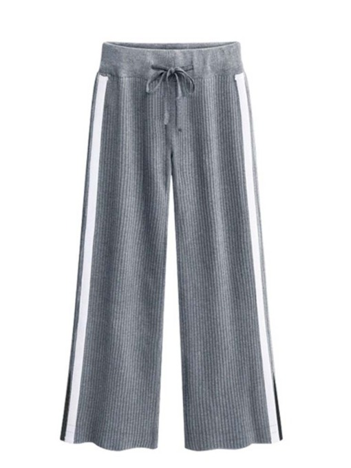Patchwork Loose Full Length Women's Casual Pants
