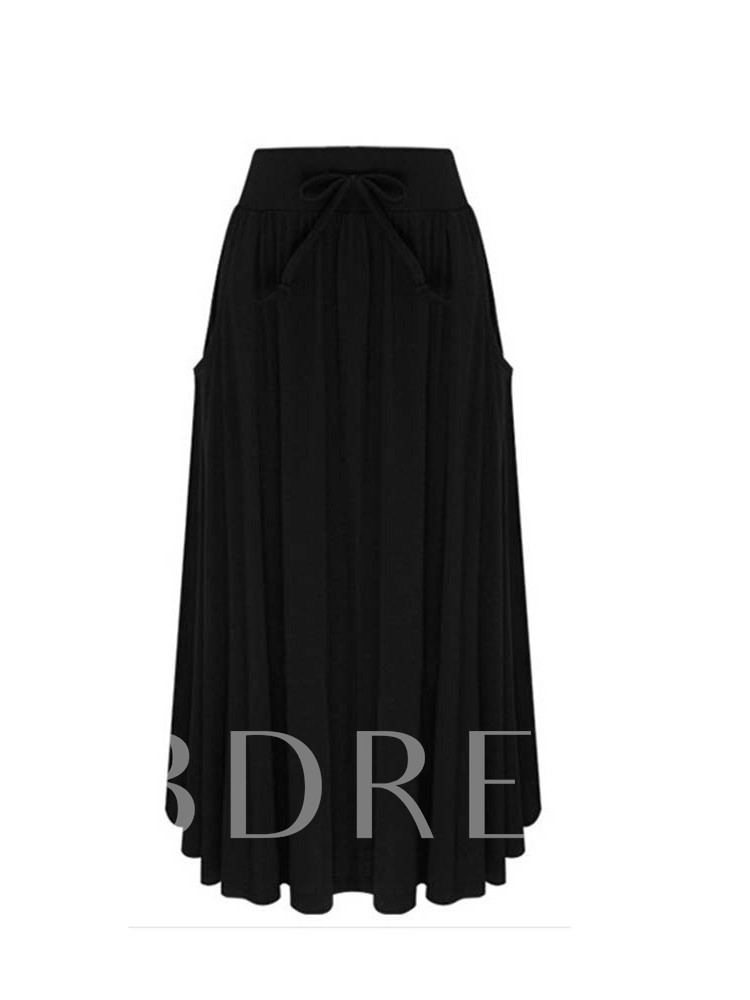 Expansion Pleated Mid-Calf Women's Skirt