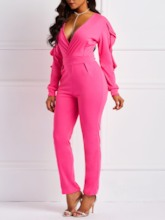 Neon Full Length Pencil Pants Women's Jumpsuit
