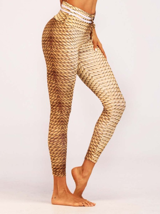 Serpentine Print Leggings for Women