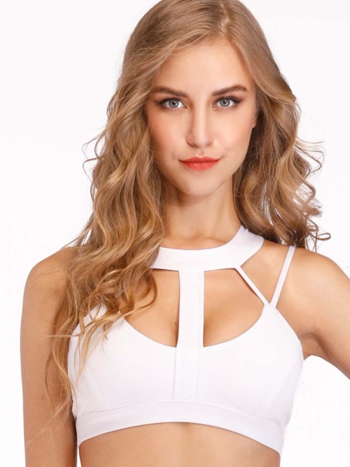 Halter Push Up Plain Sports Bra