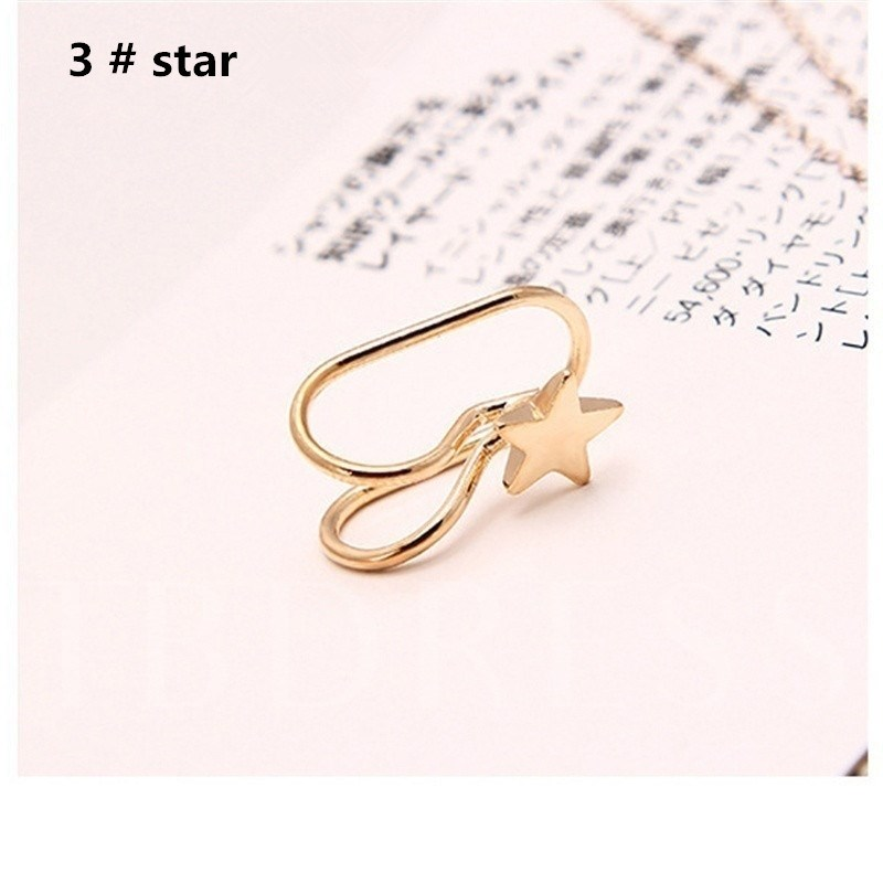 Alloy Ring Earrings 1 Pair (2pcs)