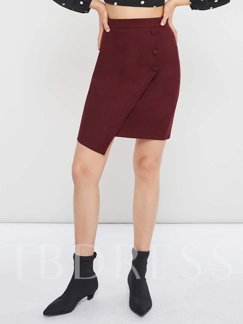 Bodycon Asymmetric Women's Mini Skirt