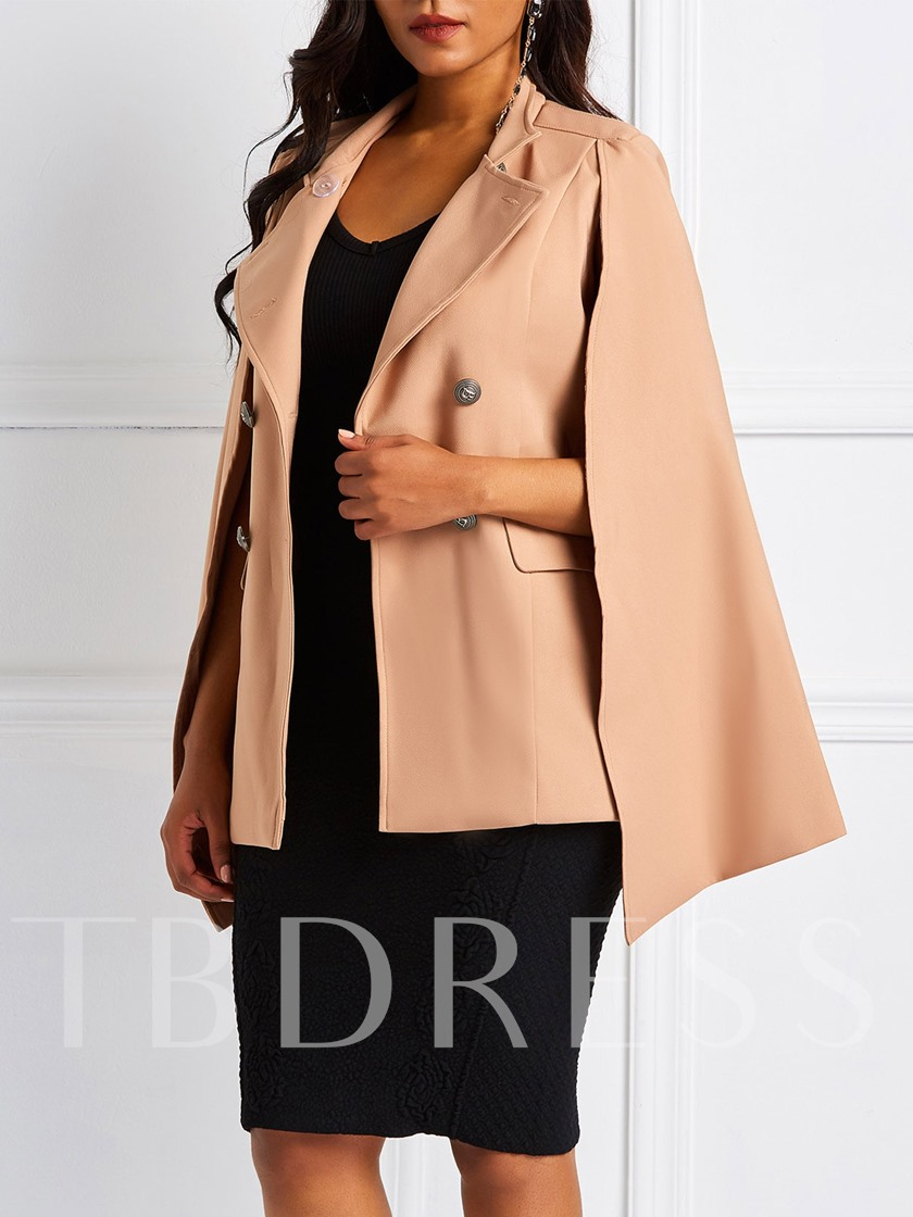 Double-Breasted Dual Pockets Mid-Length Camel Women's Overcoat