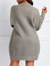 Jacquard Weave Mid-Length Women's Cardigan