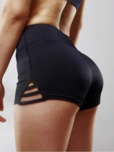 Plain Hollow Sports Shorts for Women