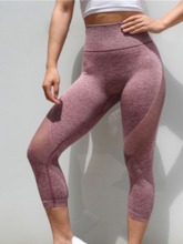 Patchwork Breathable Mid-Calf Leggings for Women