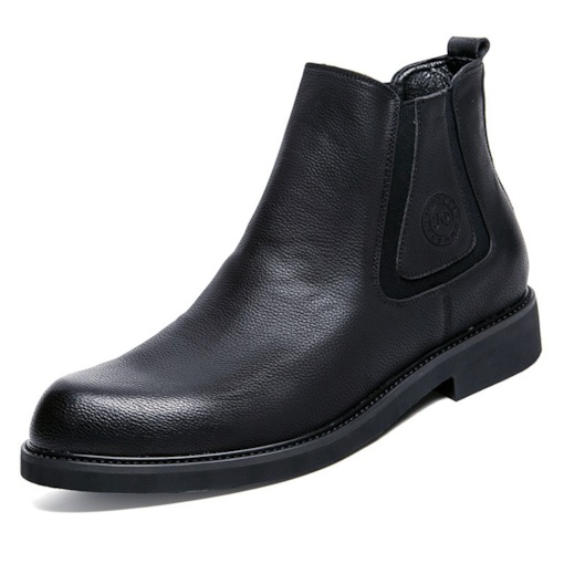 Plain Round Toe Slip-On Comfy Men's Chelsea Boots