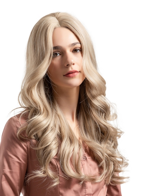 Big Curly Middle Parting Sythetic Hair Women Capless Wig 24 Inches