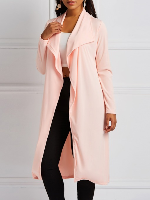 Wide-Lapel Wrapped Fall Women's Trench Coat