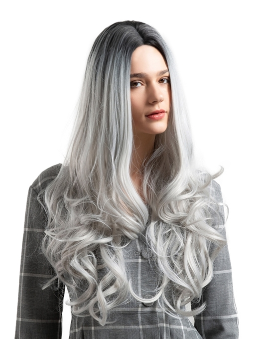 Big Curly Long Fashionable Halloween Costume Cosplay Synthetic Hair Capless Wigs 26 Inches