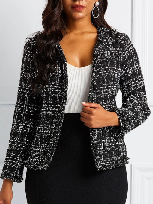 Slim Mottled Long Sleeve Women's Jacket