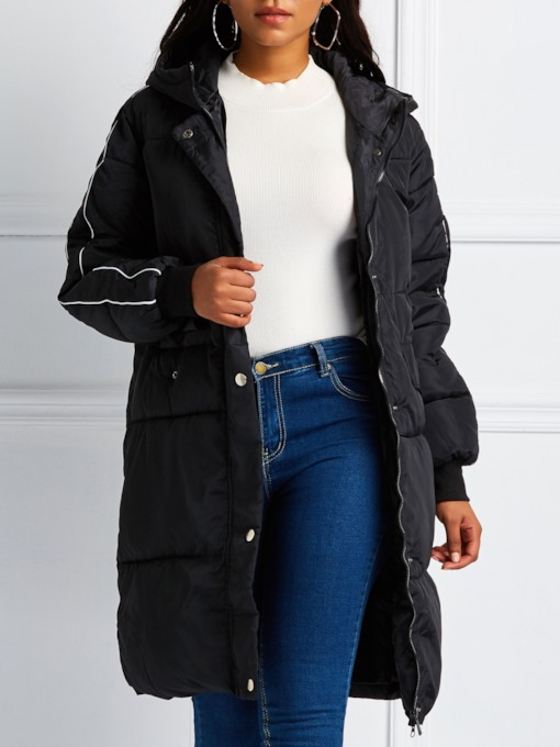 Straight Mid-Length Puff Women's Cotton Padded Jacket
