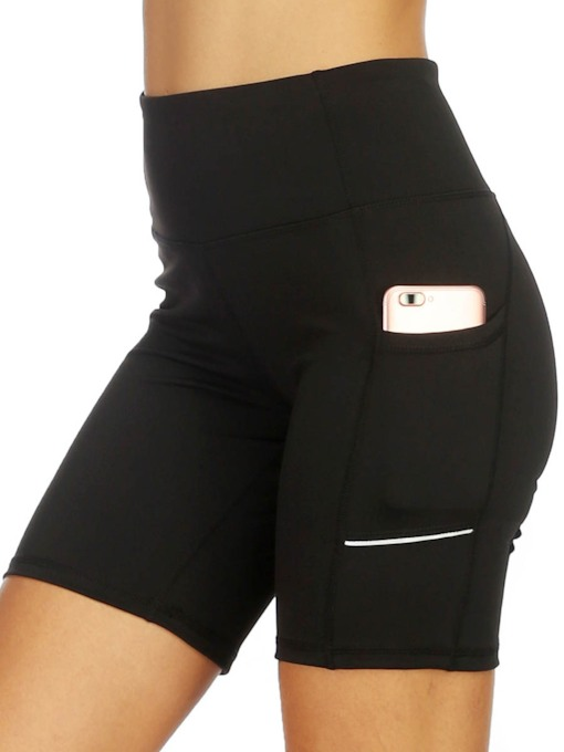 Quick Dry Women's Knee Length Leggings With Pockets