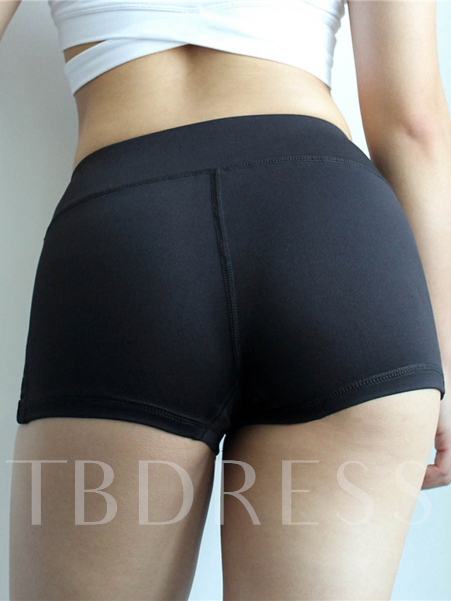 Quick Dry Plain Sports Shorts for Women