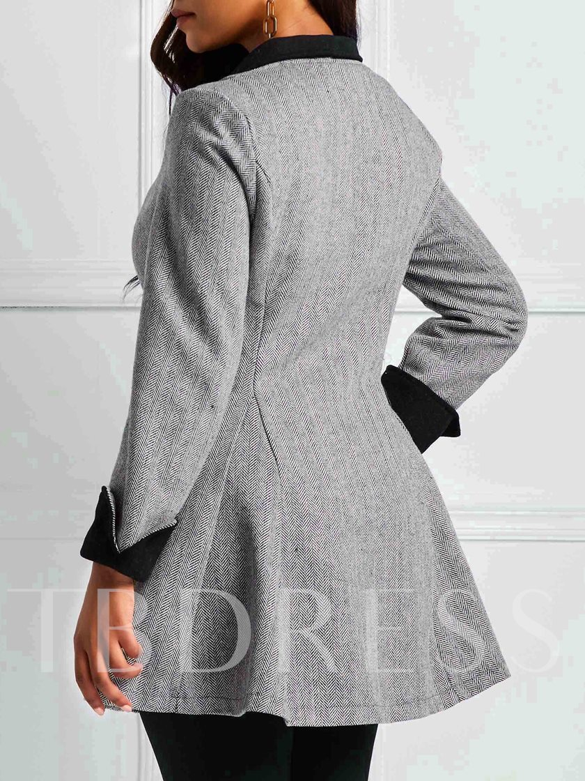 Notched Lapel Single-Breasted Women's Casual Blazer