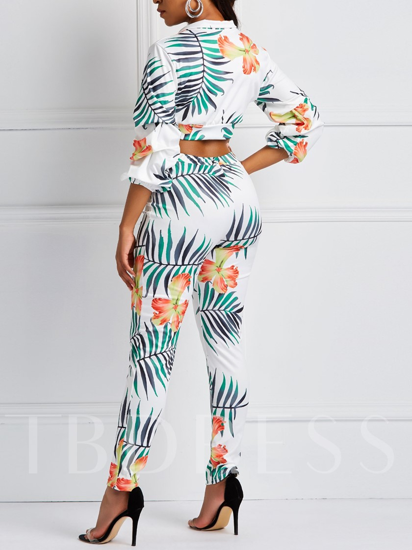 Floral Casual Print Women's Two Piece Sets
