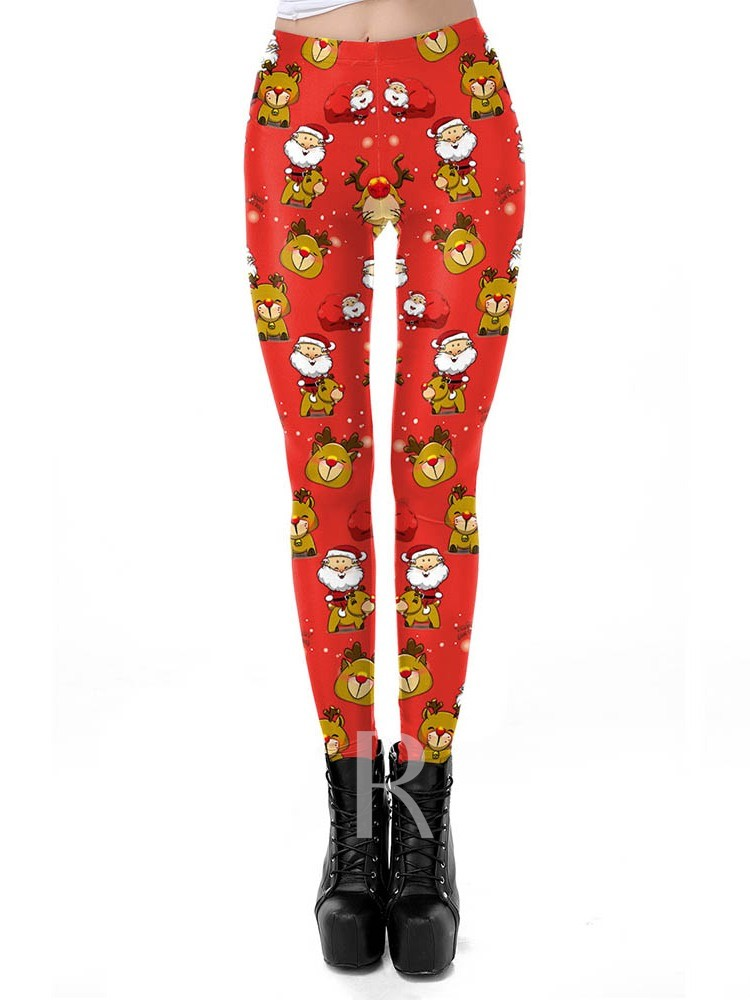 Cartoon Print Cocktail Women's Leggings