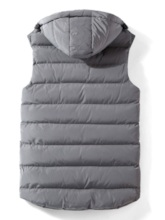 Thick Stand Collar Plain Casual Men's Gilet