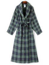Color Block Plaid Lace-Up Women's Overcoat