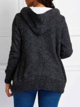 Single-Breasted Hooded Winter Women's Cardigan