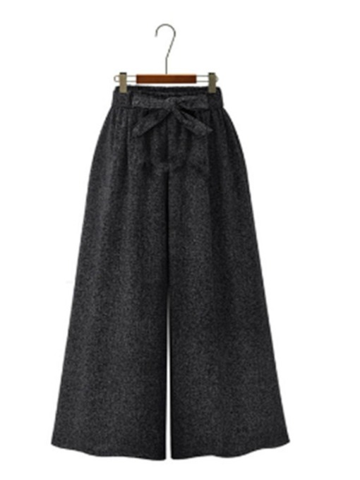 Plain Loose High-Waist Women's Casual Pants