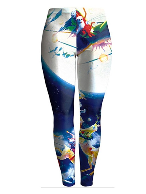 Christmas Fashion Thin Print Women's Leggings