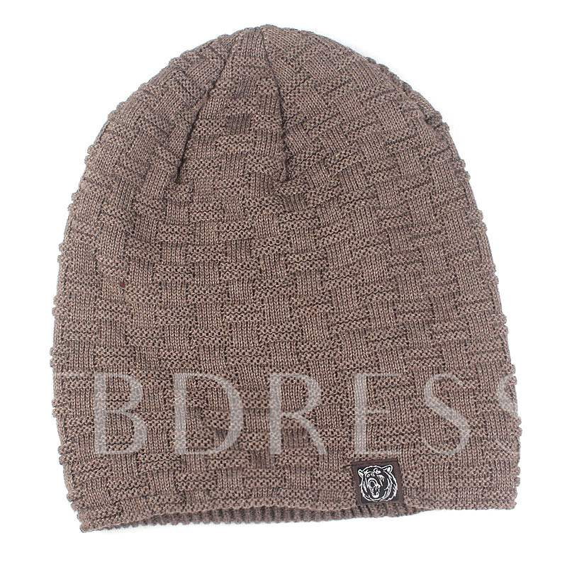 Pure Color Knitted Brimless Christmas Gift Beanie