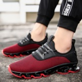 Low-Cut Upper Lace-Up Round Toe Stylish Men's Sneakers