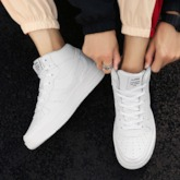 High Top Color Block Lace-Up Round Toe Comfy Men's Skate Shoes