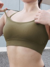Absorbent Breathable Plain Sports Bra