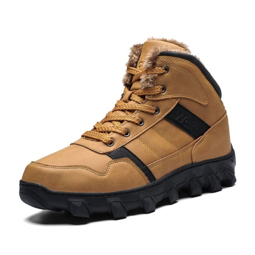 Round Toe Plain Lace-Up Front Outdoor Boots for Men