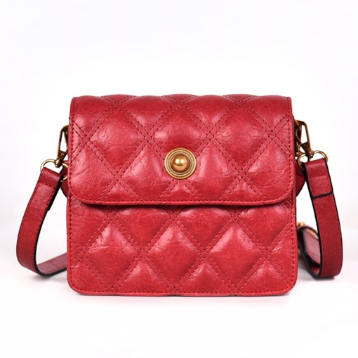 Quilted Lining PU Rectangle Crossbody Bags