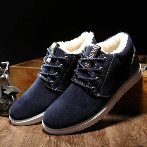Patchwork Round Toe Short Floss Lace-Up Front Men's Shoes