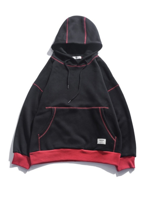 Pullover Thick Loose Patchwork Men's Hoodie