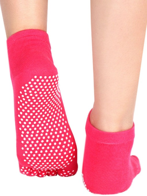 Cotton Anti-Sliding Breathable Five Toe Socks For Women