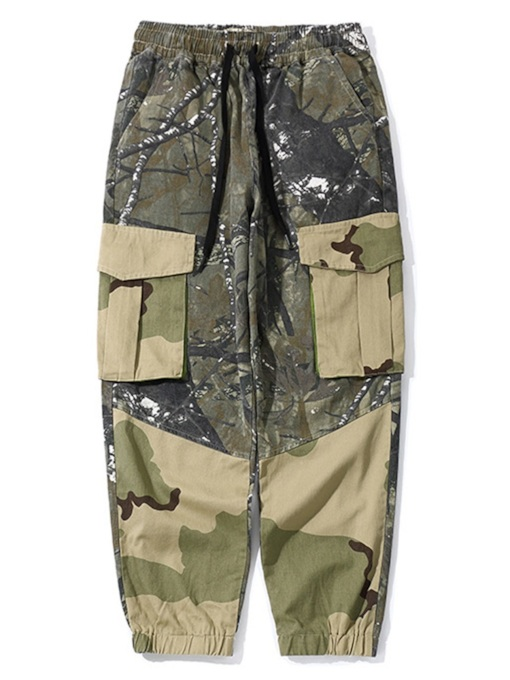 Overall Loose Camouflage Print Low-Waist Men's Casual Pants