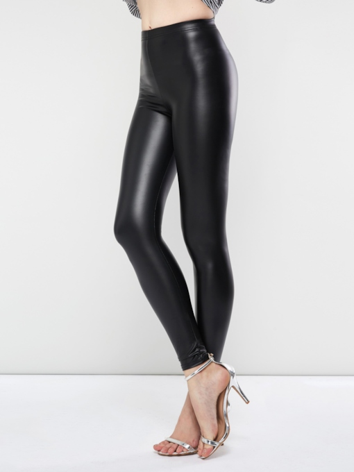 Plain PU Skinny Women's Leggings