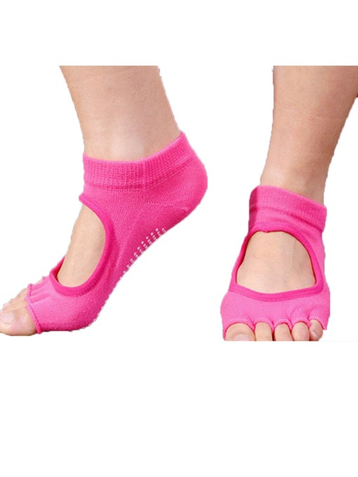 Cotton Anti-Sliding Deodorization Open Toe Socks for Women