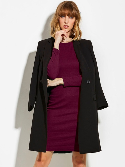 Long Sleeve Backless Bandage Women's Sheath Dress