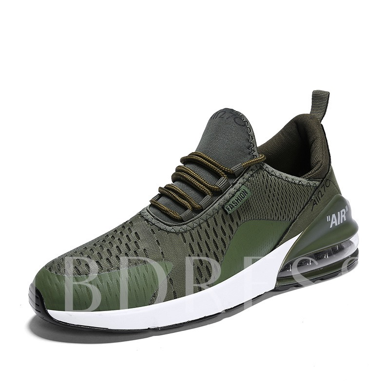 Lace-Up Low-Cut Upper Mesh Chic Men's Sneakers