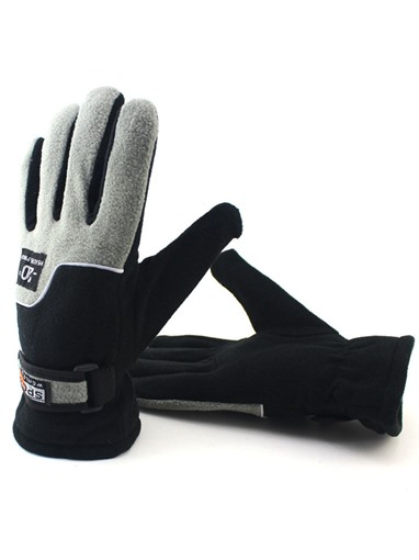 Thicken fleece windproof Gloves for Men