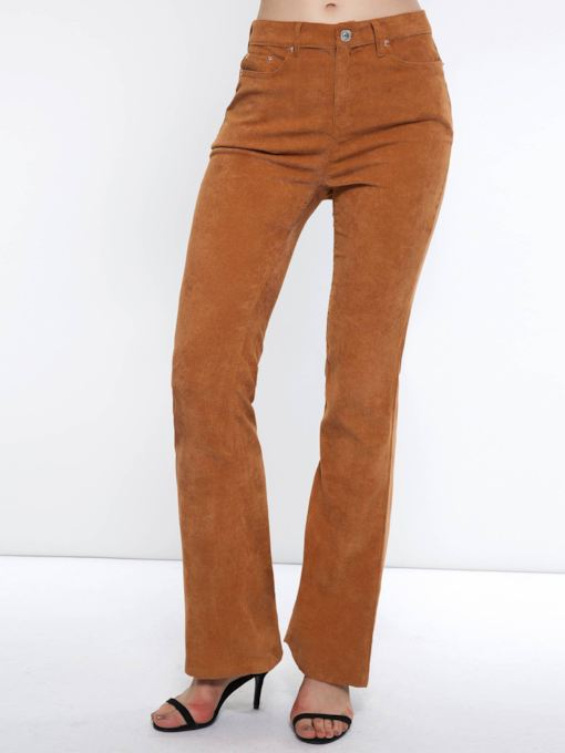 Slim Zipper Plain Straight Women's Casual Pants